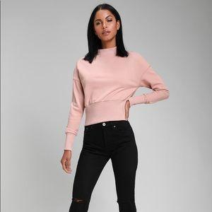 Millie Dusty Blush Mock Neck Sweatshirt